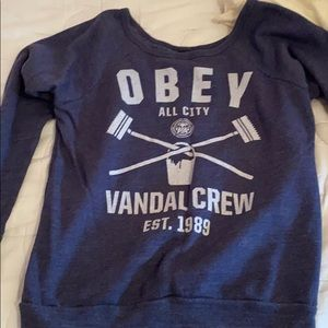 Obey Navy crewneck - super soft